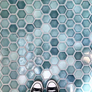 zeshoek-tegels
