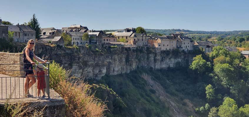 Bozouls Aveyron rotsen