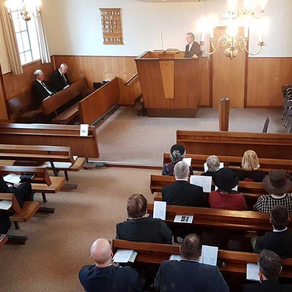 Laatste dienst Christlijke gereformeerder kerk te Zuidland