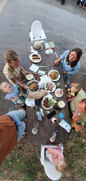 diner met elkaar franse stijl