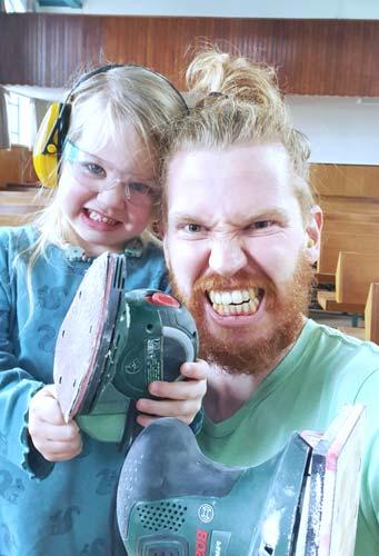 Samen-klussen-vader en kind