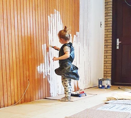 child-muur verven